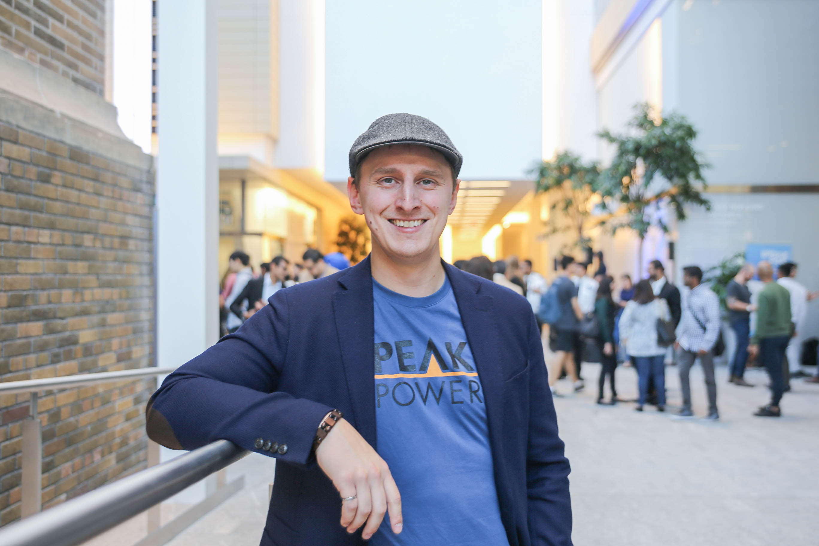 Mike Skirzynski in the MaRS atrium at the 2019 Startup Open House
