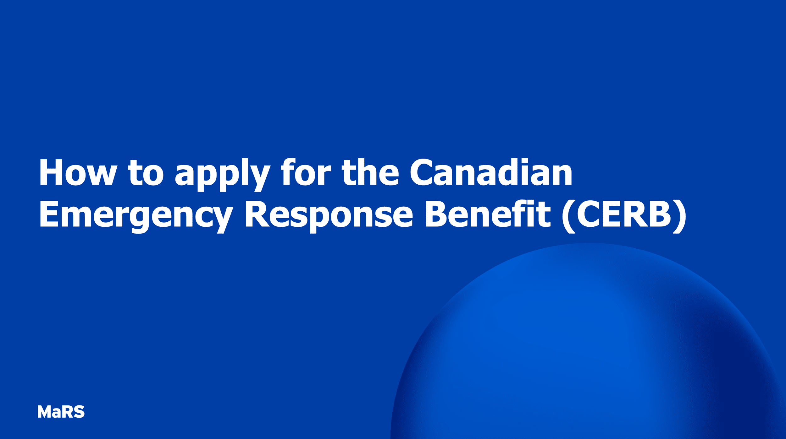 Apply For Cerb Benefit And Ei